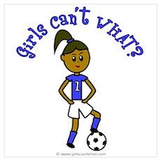 Dark Blue Soccer Poster
