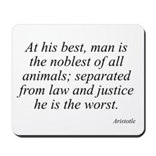 Aristotle quote 10 Mousepad