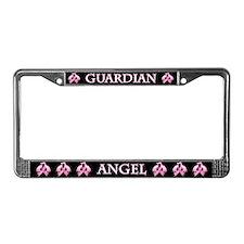 Pink Guardian Angel License Plate Frame