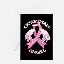Pink Guardian Angel Greeting Card