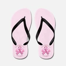 Pink Guardian Angel Flip Flops
