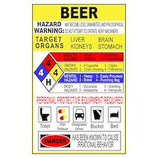 Warning Beer Hazardour Materi Poster