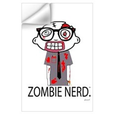 Zombie Nerd. with Body. Wall Decal
