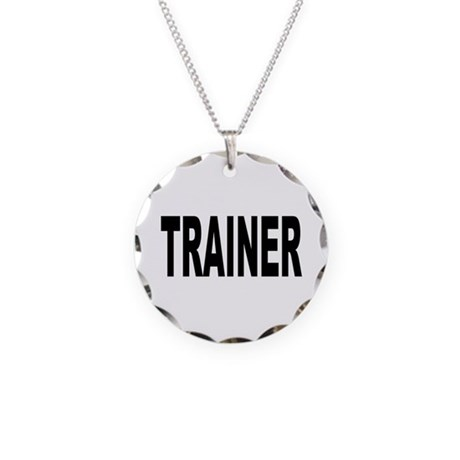 Trainer Necklace Circle Charm