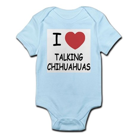 I heart talking chihuahuas Infant Bodysuit