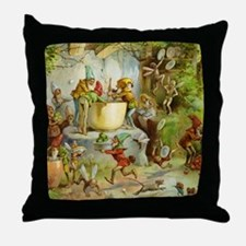 Gnomes, Elves & Forest Fairies Throw Pillow