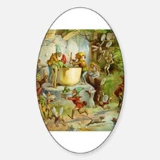 Gnomes, Elves & Forest Fairies Sticker (Oval)