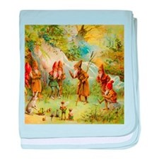 Gnomes, Elves & Forest Fairies baby blanket