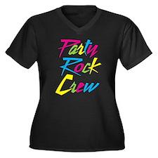 Party Rock Women's Plus Size V-Neck Dark T-Shirt