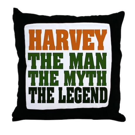 Harvey Legend Throw Pillow