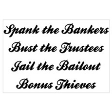 Spank the Bankers Poster
