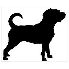 Puggle Dog Poster