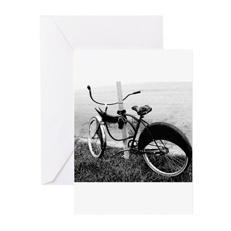 Black and White Bike Greeting Cards (Pk of 10)