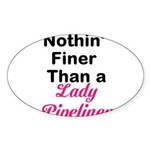 Lady Pipeliner Sticker (Oval 50 pk)