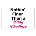 Lady Pipeliner Sticker (Rectangle)