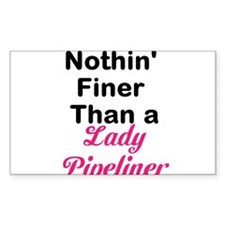 Lady Pipeliner Bumper Stickers