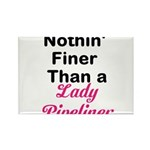 Lady Pipeliner Rectangle Magnet (10 pack)