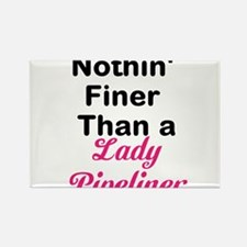 Lady Pipeliner Rectangle Magnet