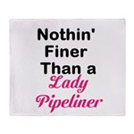 Lady Pipeliner Throw Blanket