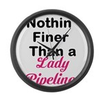 Lady Pipeliner Large Wall Clock