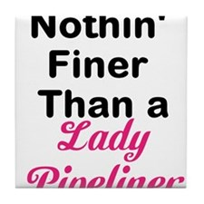Lady Pipeliner Tile Coaster