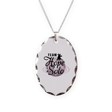 Team Hope Solo Necklace Oval Charm