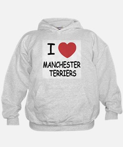 I heart manchester terriers Hoodie