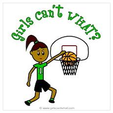 Dark Green Basketball Poster