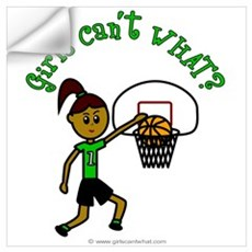 Dark Green Basketball Wall Decal