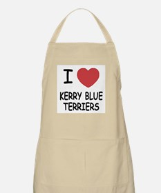 I heart kerry blue terriers Apron