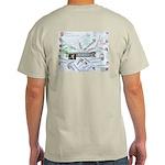 SacklerMap on back of Ash Grey T-Shirt