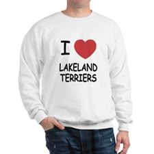I heart lakeland terriers Sweatshirt