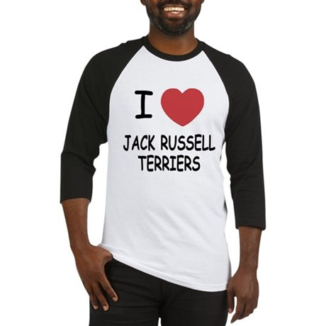 I heart jack russell terriers Baseball Jersey