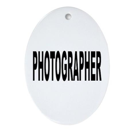 Photographer Ornament (Oval)