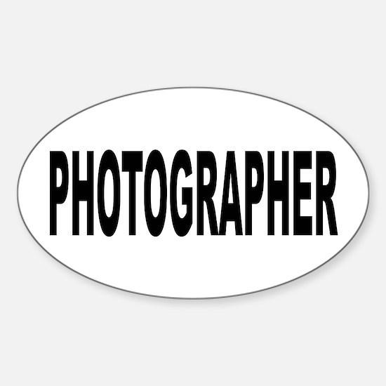 Photographer Sticker (Oval)