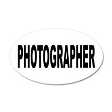 Photographer 22x14 Oval Wall Peel