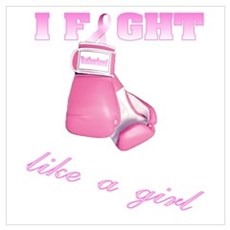 I fight Like a Girl Breast Ca Canvas Art