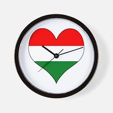 Hungary Heart Wall Clock