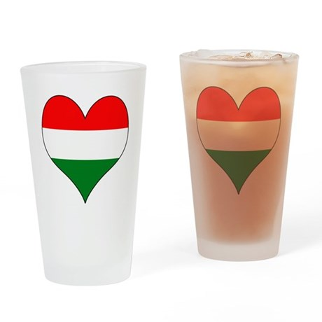 Hungary Heart Drinking Glass