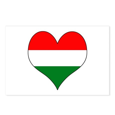 Hungary Heart Postcards (Package of 8)