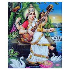Saraswati ji Poster