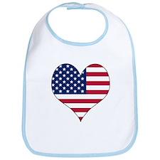 U.S.A. Heart Bib