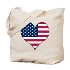 U.S.A. Heart Tote Bag