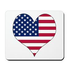 U.S.A. Heart Mousepad