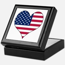 U.S.A. Heart Keepsake Box