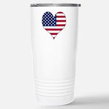 U.S.A. Heart Travel Mug