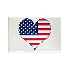 U.S.A. Heart Rectangle Magnet