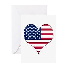 U.S.A. Heart Greeting Card