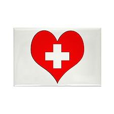Switzerland Heart Rectangle Magnet