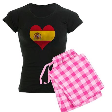 Spain Heart Women's Dark Pajamas